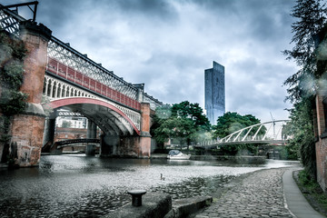 Manchester skyline, Castlefield canals