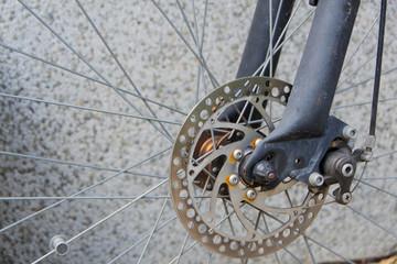 Brake disc on the bike