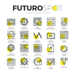 Sound Studio Futuro Spot Icons