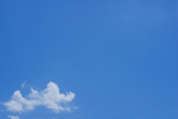 beauty clear blue sky with cloud for background