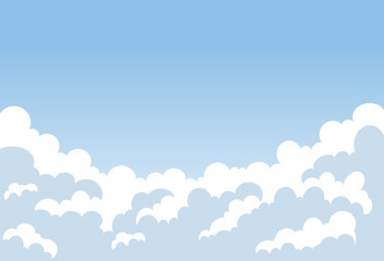 Clouds vector background. Clouds in the blue sky. Vector illustration