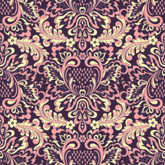 Vintage wallpaper Floral seamless pattern.