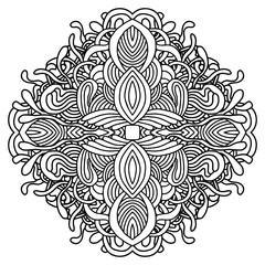 Mandala. Religion icon for relaxing