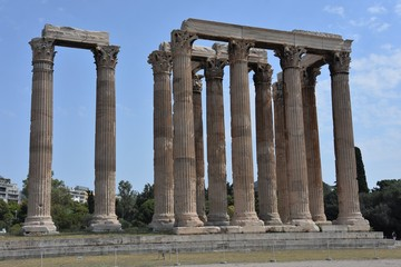 Ancient Temple of Olympian Zeus in Athens