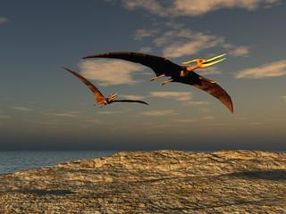Pteranodones volando