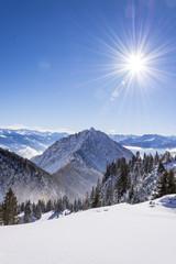 Alpen, Winter, Urlaub, Freizeit, Wandern, Schnee, Sonne