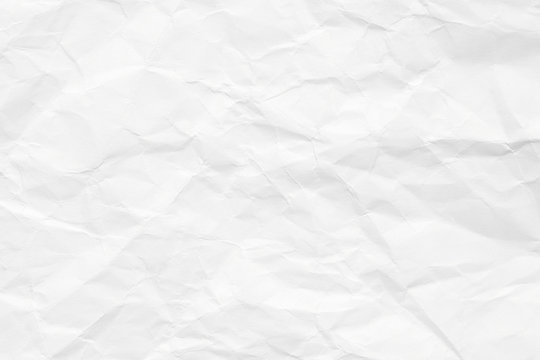 The texture of white paper with kinks. Background for various purposes.