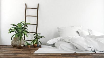 Gemütliches Schlafzimmer. Skandinavischer Stil