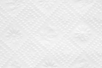Texture of a napkin is white. Background for various purposes.