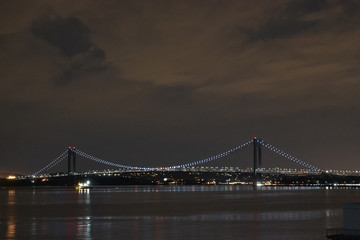 Bridge Verrazano-Narrows Bridge at night