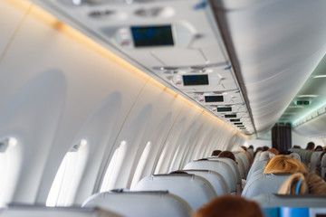 passengers in aircraft during flight new aircraft