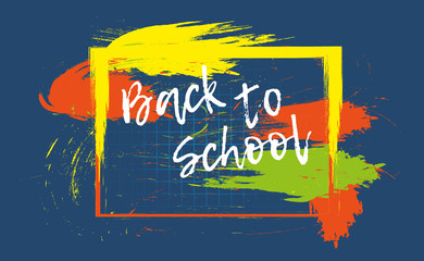 Back to school banner or poster. Abstract background with cell. Vector