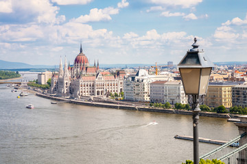 Cityscape of Pest in Budapest, Hungary
