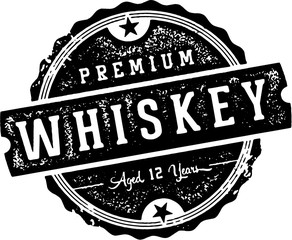 Premium Vintage Whiskey Stamp