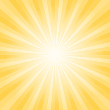 Abstract bright soft Yellow rays background. Vector