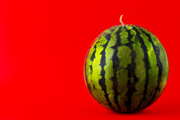 Watermelon on a red background