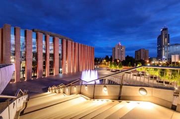 Obraz Katowice nocą - fototapety do salonu