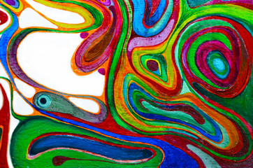 Abstract art background. Oil painting on canvas. Multicolored bright texture. Fragment of artwork