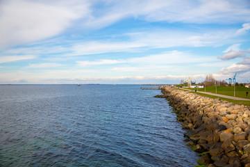 North sea coastline near the city of Malmo in Sweden