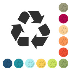 Farbige Buttons - Recycling