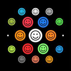 Modernes UI design - lächelndes Gesicht