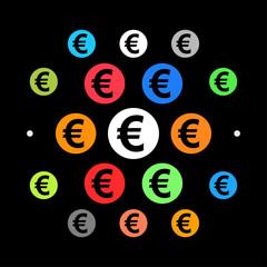 Modernes UI design - dickes Eurozeichen