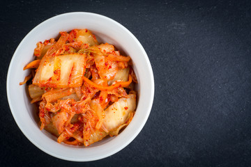 Kimchi. Fermented napa cabbage