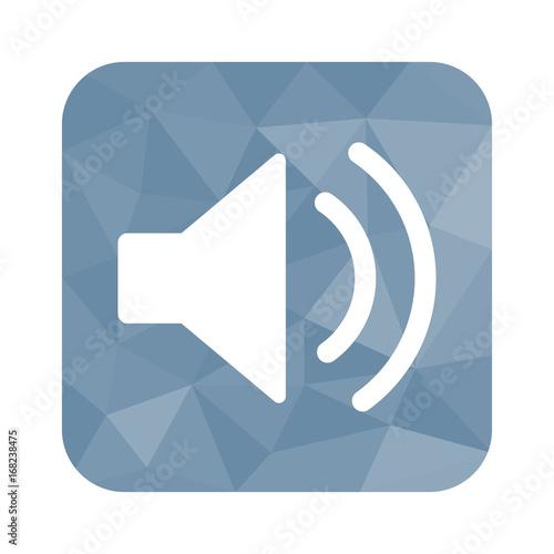 Low Poly Button - Lautsprecher-Symbol\
