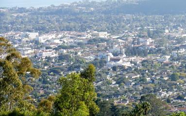 Blick von den Hügeln auf Santa Barbara