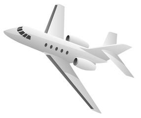 Business Jet Airplane Vector Illustration