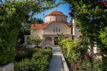 Garden Poster Cyprus Monastery of Saint George the Alaman. Cyprus