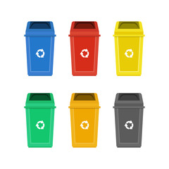 Set of garbage bins