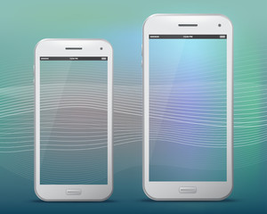 White Mobile Phones With Transparent Screens