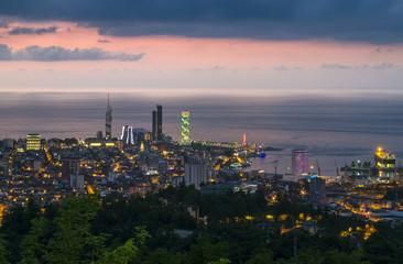 Batumi city skyline view