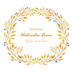 Watercolor autumn wreath