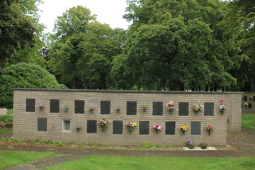 Columbarium at a cemetery