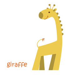 animals set - giraffe