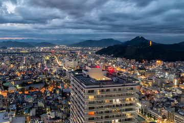 Gifu City Skyline at Night - Central Japan