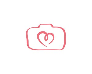 camera hearth abstract logo