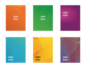 Simple Modern Covers Template Design. Set of Minimal Geometric Halftone Gradients for Presentation, Magazines, Flyers, Annual Reports, Posters and Business Cards.