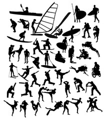 Sport Activity Silhouettes, art vector design
