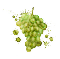 Green grape grunge