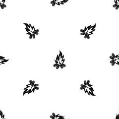 Bonfire pattern seamless black