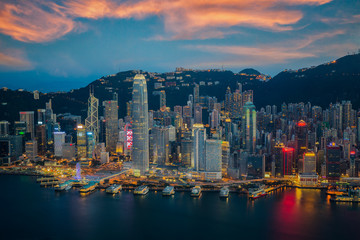 Wall Mural - Hongkong city skyline