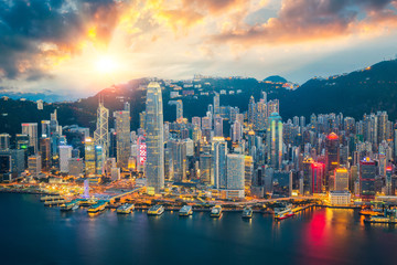 Wall Mural - Hong kong city skyline