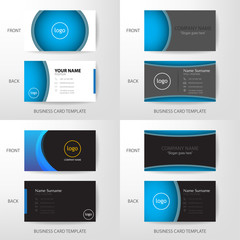 Set of Vector modern and clean business card design template