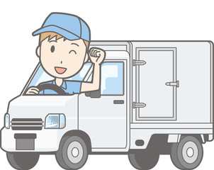Illustrations that men riding a light car insulated car are posing guts