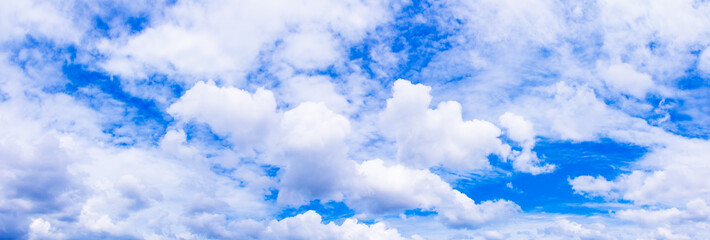 panoramic sky and storm cloud in summer time beautiful background with copy space add text