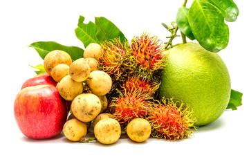 Fototapete - Mixed healthy eating fruits