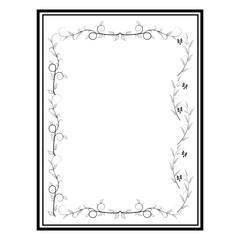 Frame of twig card